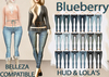 Blueberry Radi - Belleza Fitted - HUD Controlled & Optional Belts - Boots Friendly & Regular Cut Jeans FAT PACK