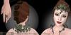 Eclectica 'Sylvan' Jewellery-dark leaves