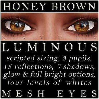 Mayfly - Luminous - Mesh Eyes (Honey Brown)