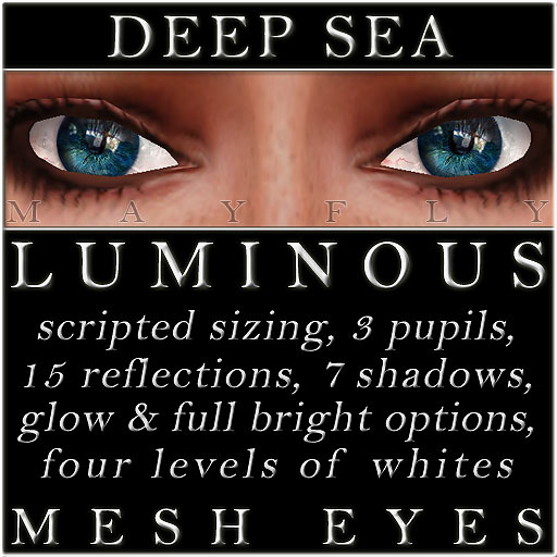 Mayfly - Luminous - Mesh Eyes (Deep Sea)
