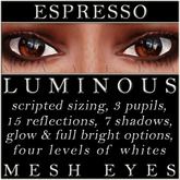Mayfly - Luminous - Mesh Eyes (Espresso)