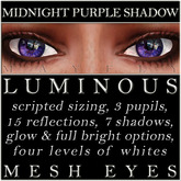 Mayfly - Luminous - Mesh Eyes (Midnight Purple Shadow)