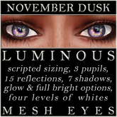 Mayfly - Luminous - Mesh Eyes (November Dusk)
