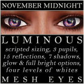Mayfly - Luminous - Mesh Eyes (November Midnight)