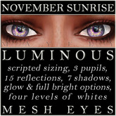 Mayfly - Luminous - Mesh Eyes (November Sunrise)