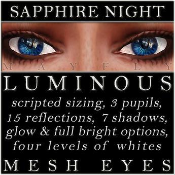 Mayfly - Luminous - Mesh Eyes (Sapphire Night)