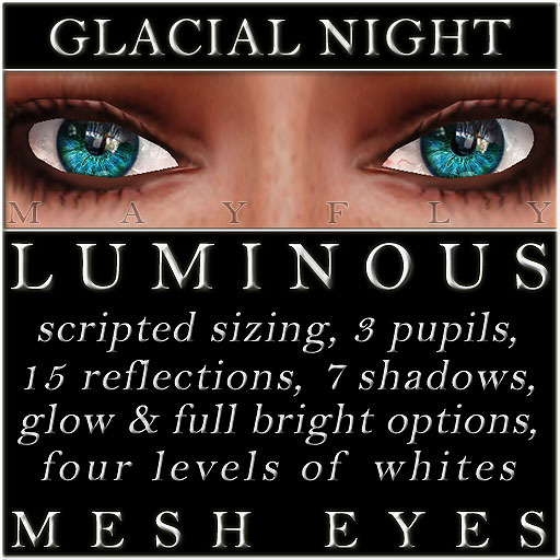 Mayfly - Luminous - Mesh Eyes (Glacial Night)