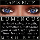 Mayfly - Luminous - Mesh Eyes (Lapis Blue)