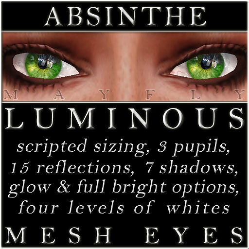 Mayfly - Luminous - Mesh Eyes (Absinthe)