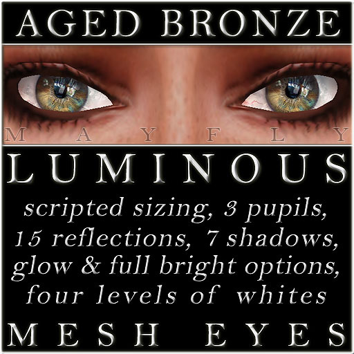 Mayfly - Luminous - Mesh Eyes (Aged Bronze)