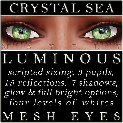 Mayfly - Luminous - Mesh Eyes (Crystal Sea)