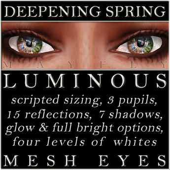 Mayfly - Luminous - Mesh Eyes (Deepening Spring)
