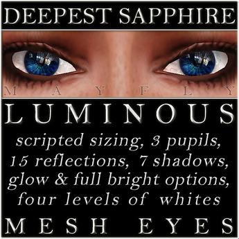 Mayfly - Luminous - Mesh Eyes (Deepest Sapphire)