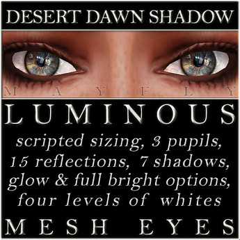 Mayfly - Luminous - Mesh Eyes (Desert Dawn Shadow)