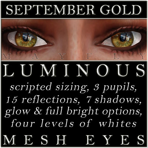 Mayfly - Luminous - Mesh Eyes (September Gold)