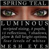 Mayfly - Luminous - Mesh Eyes (Spring Teal)