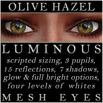 Mayfly - Luminous - Mesh Eyes (Olive Hazel)