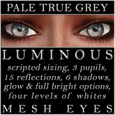 Mayfly - Luminous - Mesh Eyes (Pale True Grey)