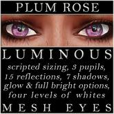 Mayfly - Luminous - Mesh Eyes (Plum Rose)