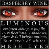 Mayfly - Luminous - Mesh Eyes (Raspberry Wine)