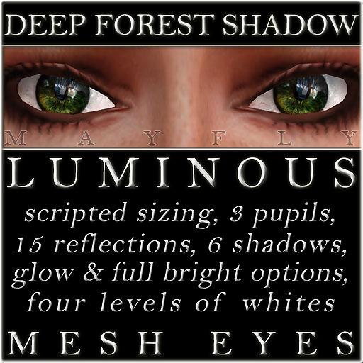 Mayfly - Luminous - Mesh Eyes (Deep Forest Shadow)