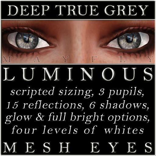 Mayfly - Luminous - Mesh Eyes (Deep True Grey)