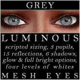 Mayfly - Luminous - Mesh Eyes (Grey)