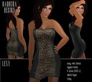 BD-Lexy multicolor Mini Dress Mesh sequin leather