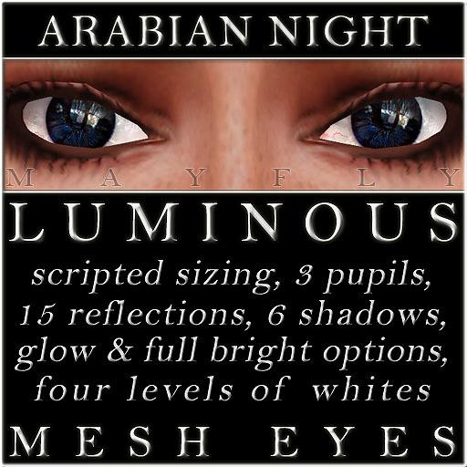 Mayfly - Luminous - Mesh Eyes (Arabian Night)