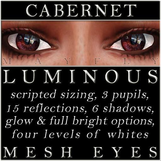 Mayfly - Luminous - Mesh Eyes (Cabernet)