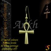 Yavanna Ankh multi-metal Egyptian earrings