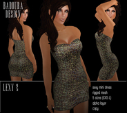 BD-Lexy 2 multicolor Mini Dress Mesh sequin