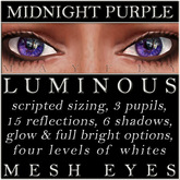 Mayfly - Luminous - Mesh Eyes (Midnight Purple)