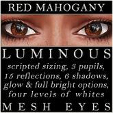 Mayfly - Luminous - Mesh Eyes (Red Mahogany)