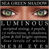 Mayfly - Luminous - Mesh Eyes (Sea Green Shadow)