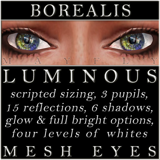 Mayfly - Luminous - Mesh Eyes (Borealis)