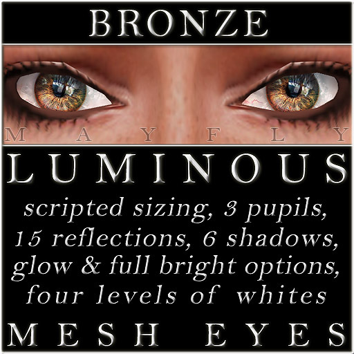 Mayfly - Luminous - Mesh Eyes (Bronze)