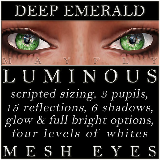 Mayfly - Luminous - Mesh Eyes (Deep Emerald)