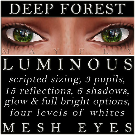 Mayfly - Luminous - Mesh Eyes (Deep Forest)