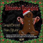 GingerBread Man TipJar - Ginger Bread Man - Christmas
