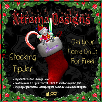 Christmas Stocking TipJar - Tip Jar