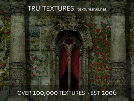 11341: 32 x Seamless Dartworth Castle 2D Game Textures Set 3 *Blood Rose* - 1024 x 1024 Pixels
