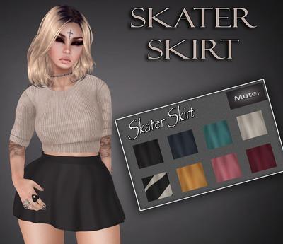 Mute. Skater Skirt with HUD