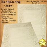 *PV* The Hynde Rug - Cream