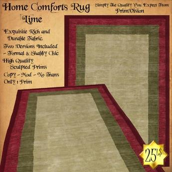 *PV* Home Comforts Area Rug - Lime