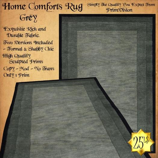 *PV* Home Comforts Area Rug - Grey