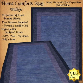*PV* Home Comforts Area Rug - Indigo