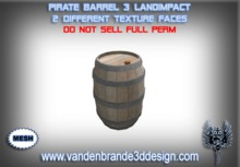 ~Full perm Pirate Barrel 100% mesh!