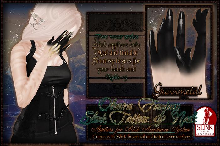 :[P]:-Oliavra Slink Tattoos://Gunnmetal