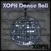 XOPH Singles Danceball, original texture-animated mesh, 15 animations